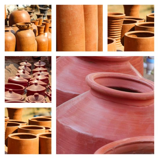 Indian water clay pots