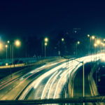 road traffic night lights