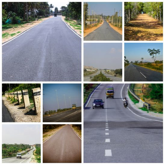 Indian roads collages