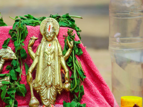satyanarayana swamy - god gold idol