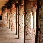 stone pillars in temple