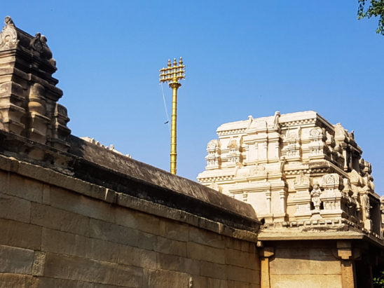 nandi dwaja stambam view in Lepakshi Temple