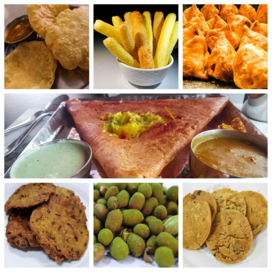 vegetarian snacks and breakfast