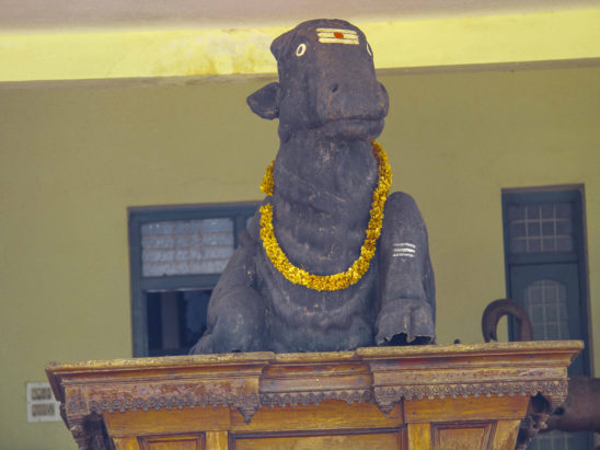 Lord Nandi on wooden chariot