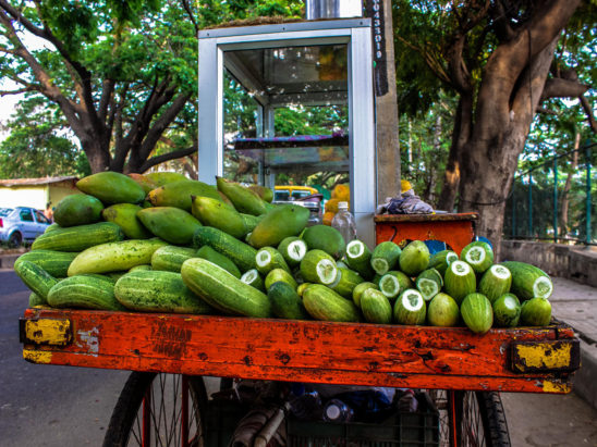 Cucumber Stall on Road Side