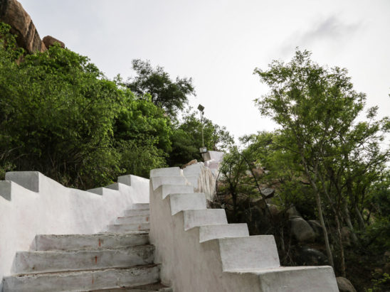 Steps built to Temple