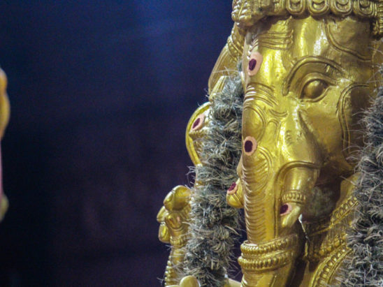 Lord Ganesh Face made of Brass