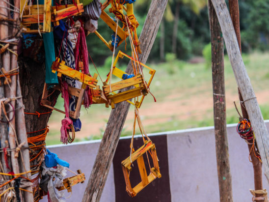 Tying Crib to Tree - Hindu Traditional Vow