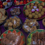 Food Items Kept During Indian Pooja or Occassion
