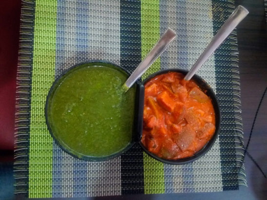 Red and Green Chutney