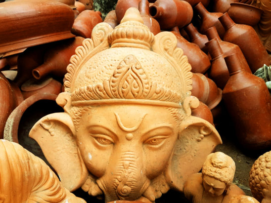 Making Clay Ganesh