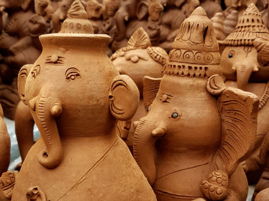 ganesh clay idol