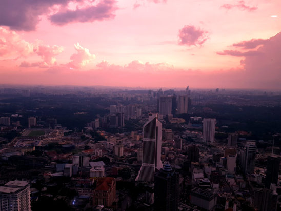 malaysia city view in sunset
