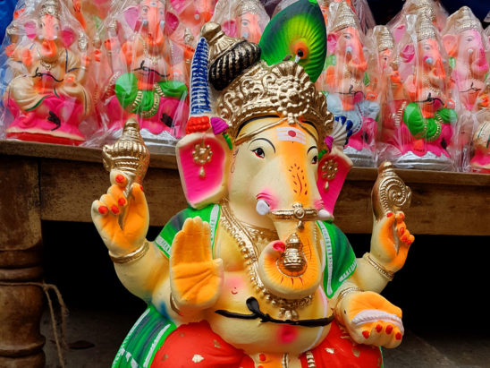 painted ganesh idol