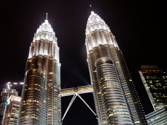 Petronas twin towers close shot