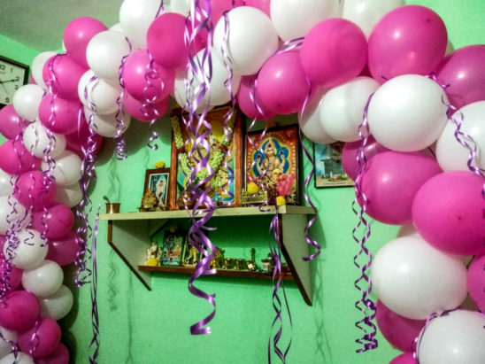 baloon decoration in home