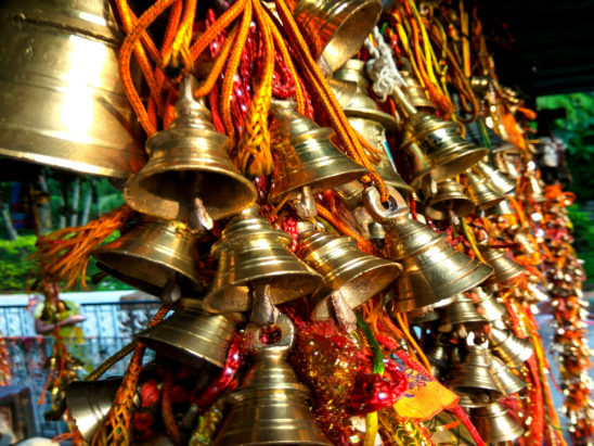 bells tied to temple