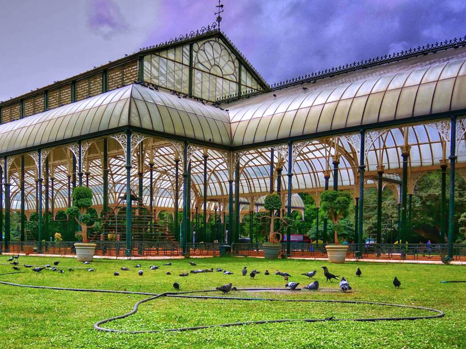 glass house in lalbagh
