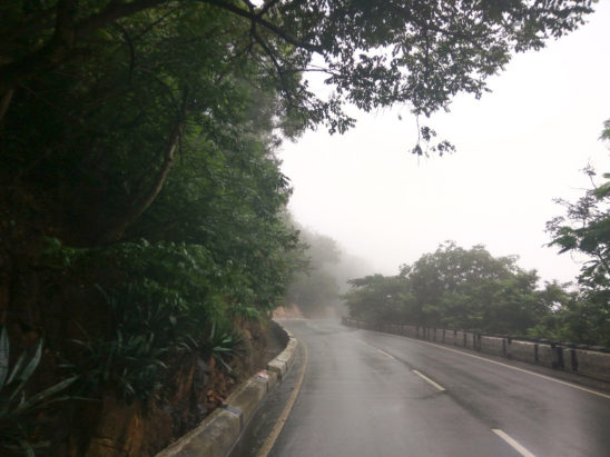 misty roads tirumala