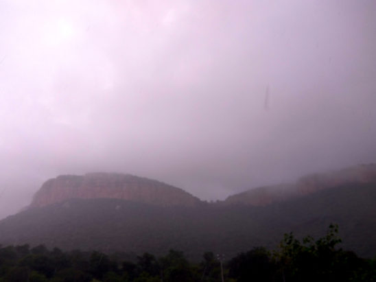 tirumala view in mist
